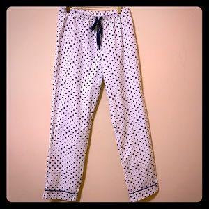 🛍 3/$30 Madewell polka dot cotton pajama pants